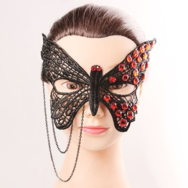 Black Butterfly Party Dance Halloween Accessories face shield