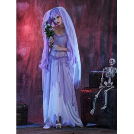 Halloween Cosplay Women Sexy Zombie Bride Party Costume
