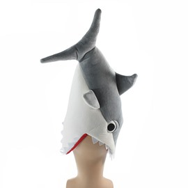 Adult Animal Costumes Funny Party Red Blue Grey Shark Hats
