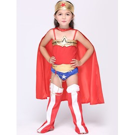 Halloween Costume Wonder Little Women Super Girl Cloth