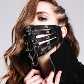 Rock Skull Cosplay Fashion Cool Punk face shield