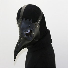 Black Bird Mouth Mask for Halloween Cosplay Costume