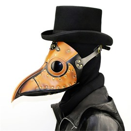 Mask Birds Long Nose Beak Faux Leather Steampunk Halloween Costume Props