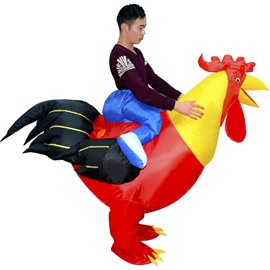 Red Rooster Ride On Inflatable Costume