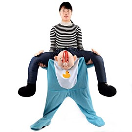The Illusion of Riding on Someone Halloween Funny Inflatable Costume