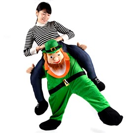 Funny Man Piggyback Green Halloween Inflatable Costume for Adult