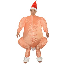 Funny Turkey Halloween Party Inflatable Costume for Adult