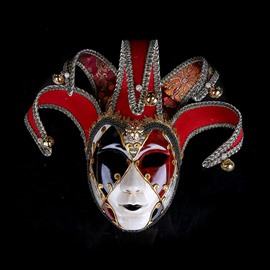 Masquerade Party Festival Painted Ladies face shield for Halloween