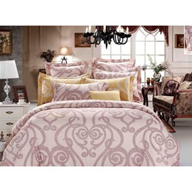 70 courtyard floral pattern 4piece polyester duvet cover sets - Bedding Catalogs