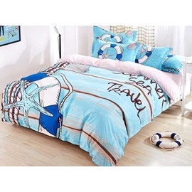 Fresh Blue Sea 4-Piece Duvet Cover Sets