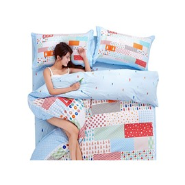 Beautiful Colorful Geometric 4-Piece Duvet Cover Sets