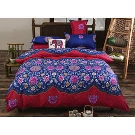 Luxurious Ethnic Pattern Polyester 4-Piece Bedding Sets/Duvet Cover
