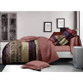 Beautiful Ethnic Style Polyester 4-Piece Duvet Cover Sets