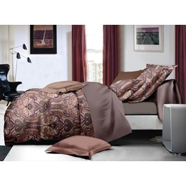 Stylish Paisley Print Polyester 4-Piece Duvet Cover Sets