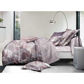 Retro Style Jacobean Pattern Print Polyester 4-Piece Duvet Cover Sets