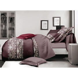 Inviting Muted Tones Polyester 4-Piece Duvet Cover Sets