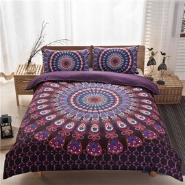 Purple Bohemian Style 3-Piece Bedding Sets/Duvet Cover
