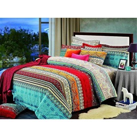 Cozyvie Bohemian Style Drugget Fabric 3-Piece Bedding Sets/Duvet Cover