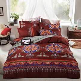 Bohemia Exotic Patterns Print Polyester 4-Piece Bedding Sets