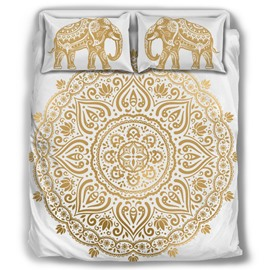 Paisley Elephant Bohemian Style Pattern 4-Piece Bedding Sets/Duvet Cover