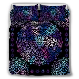 Paisley Bohemian Style Dark Purple Pattern 4-Piece Bedding Sets/Duvet Cover
