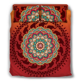 Elephant Paisley Bohemian Style Pattern 4-Piece Bedding Sets/Duvet Cover