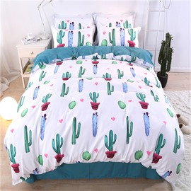 Emerald Green Cactus Style 4-Piece Bedding Sets/Duvet Cover