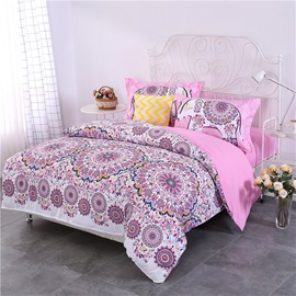 Pink Mandala Bohemian Style Pattern 4-Piece Bedding Sets/Duvet Cover