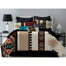 Classic Khaki Polyester 4-Piece Bedding Sets/Duvet Cover