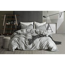 Plain Pattern Reactive Printing 3Piece Set Polyester Material Bedding Sets