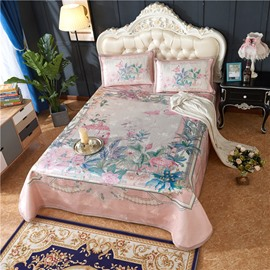 Flamingo with Flowers Polyester Pink Digital Printing 3-Piece Summer Sleeping Mat Sets