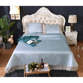 Silver Grey Lace Polyester 3- Piece Summer Sleeping Mat Sets