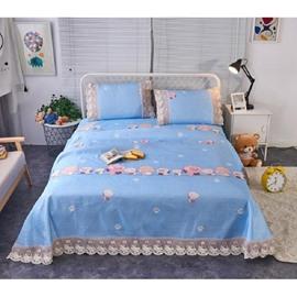 Little Dinosaur Printing Lace Polyester 3-Piece Summer Sleeping Mat Sets