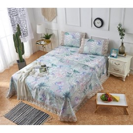 Flower-filled Lace Printing 3-Piece Summer Sleeping Mat Sets