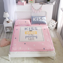 Kiss Me in the Pouring Rain Digital Printing Ice 3-Piece Summer Sleeping Mat Sets
