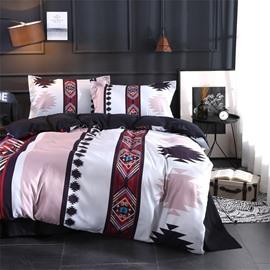 4-Piece Simple Design Polyester Bedding Sets/Duvet Cover