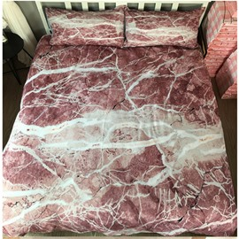 Interlaced Rock Marbling Printed Polyester 3-Piece Bedding Sets/Duvet Cover
