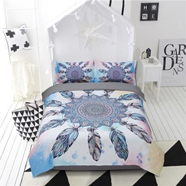 Dream Catcher with Feathers Bohemia Style 4-Piece Polyester Bedding Sets/Duvet Cover