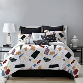 Crease-resistant And Anti-Allergic Chic Style 4-Piece Polyester Bedding Sets
