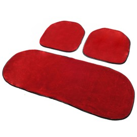New Arrival Free Bindding 3-Piece Plush Car Seat Cushions