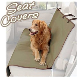 Brown Color And Rubber Band Type Pet Seat Mat