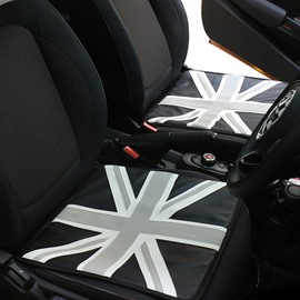 Gray And White Color Simple Style Car Seat Cover