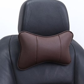 Newest Popular Leather Material Car Seat Pillow