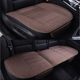 Classic Business Coffee Style Cost-Effective Durable PET Material 3-Pieces Universal Car Seat Mat