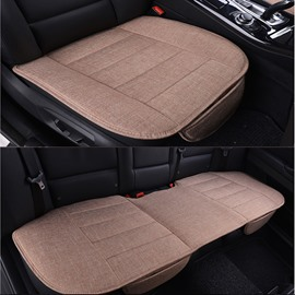 Classic Business Style Durable PET Material 3-Pieces Universal Car Seat Mat