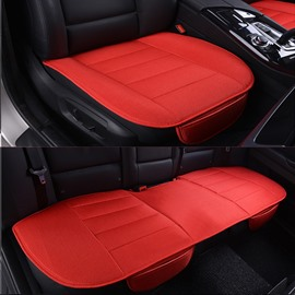 Beautiful Red Color Durable PET Material 3-Pieces Universal Car Seat Mat