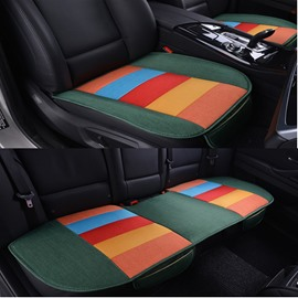 Cool Rainbow Colors Design Durable PET Material 3-Pieces Universal Car Seat Mat