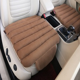 Special 3D Design Velvet Surface Material And High-Grade Cotton Filler 1-Piece Brown Front Car Seat Mat