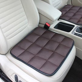 Classic Coffee Free Bundle Grid Design Durable PET Material 1-Piece Single Front Seat Mat