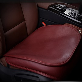 High-Grade Cattlehide Leather Material Red Wine Durable 1-Piece Single Car Seat Mat